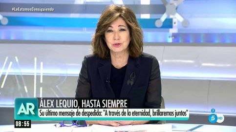Ana Rosa se emociona en su programa con la despedida de Álex Lequio