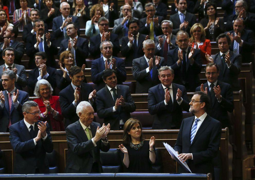 Foto: Mariano Rajoy tras finalizar su intervención (Reuters)