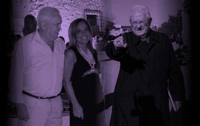 Foto: Sonia Valenzuela y Mariano España junto al obispo de Mallorca en un fotomontaje de Vanitatis