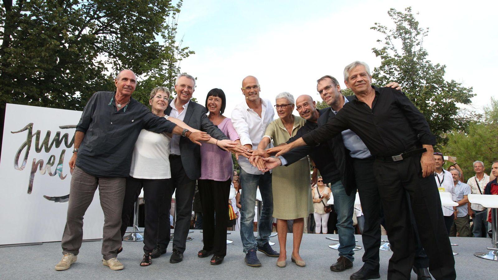 Foto: Los representantes de Junts pel Sí. (EFE)