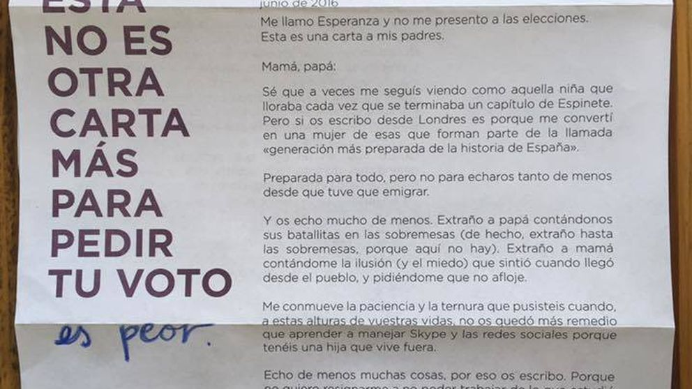 ¿Contrató Podemos a Esperanza Aguirre para escribir su carta electoral?