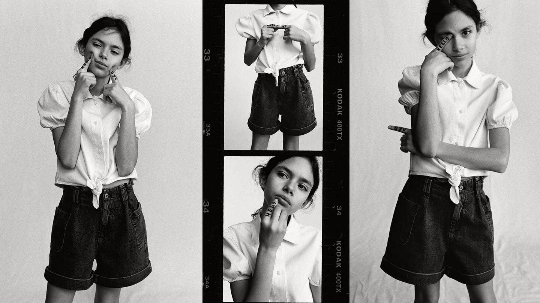 Ava Salazar para Zara Kids. (Cortesía)