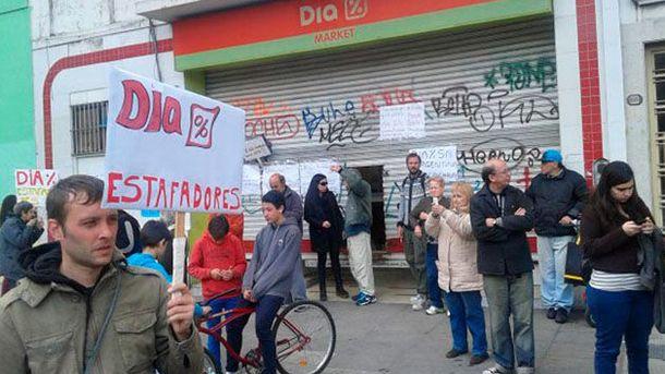 Foto: Imagen cedida por la Asociación de Afectados por Franquicias de Supermercados ASAFRAS.