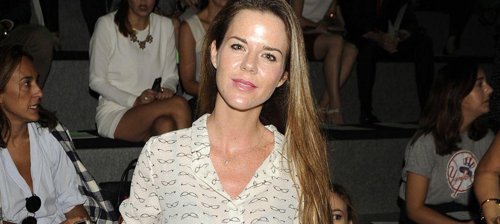 Foto: Amelia Bono este lunes en el desfile de Alvarno en la Mercedes Benz Fashion Week Madrid (Gtres)