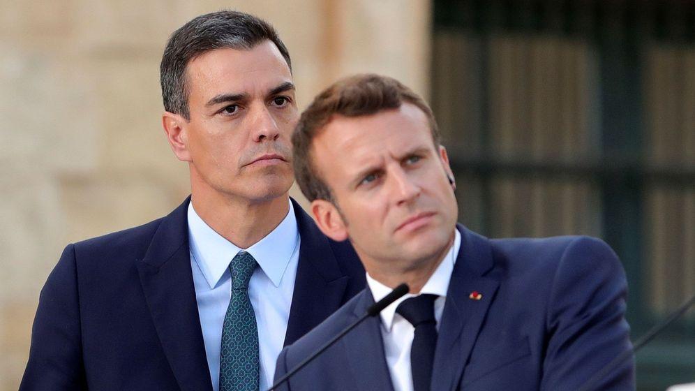 Foto: Sánchez y Macron. (EFE)