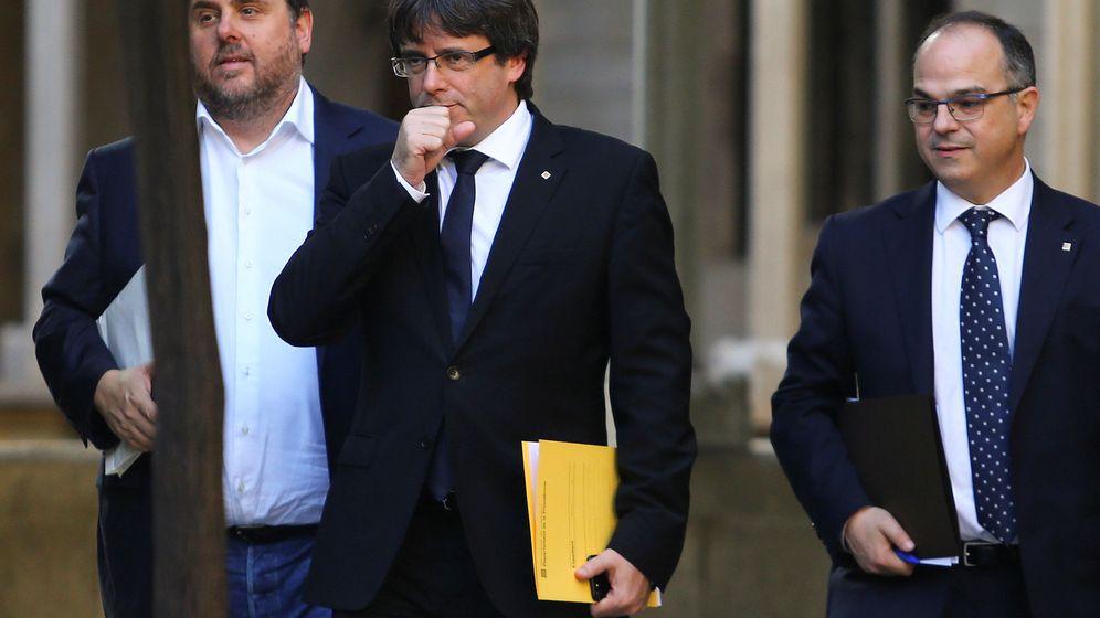 Foto: Puigdemont, Junqueras y Turull. (EFE)