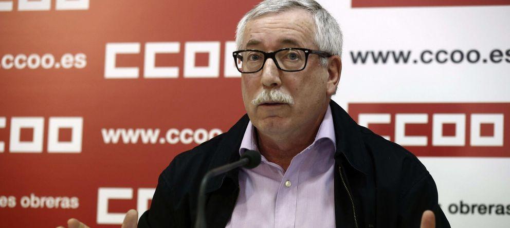 Foto: El secretario general de CCOO, Ignacio Fernández Toxo, durante la rueda de prensa. (EFE)