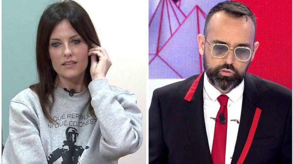 Foto: Cristina Seguí y Risto Mejide en 'Todo es mentira'. (Mediaset España)
