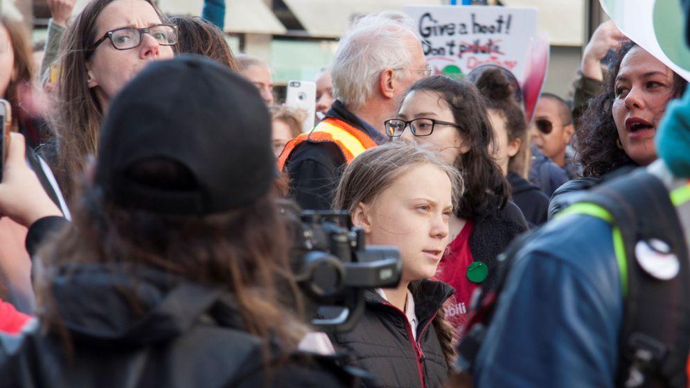 Foto: Greta Thunberg durante la manifestación por el clima en Vancouver. (Reuters)