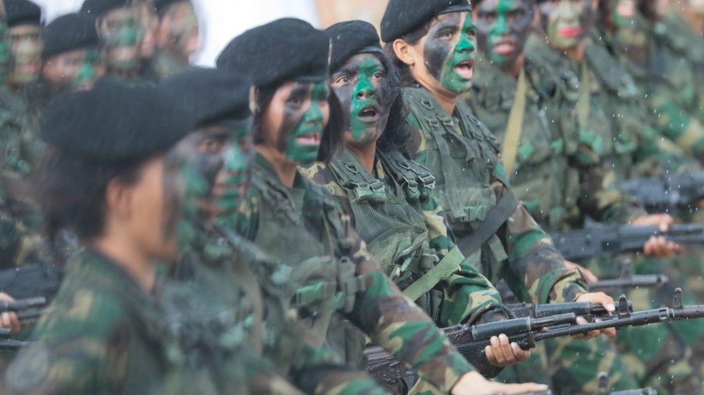 Foto: Fotografía cedida por Prensa Miraflores de soldados del Ejército de Venezuela. (EFE)