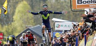 Post de Alejandro Valverde arrasa de nuevo en Huy y gana su quinta Flecha Valona