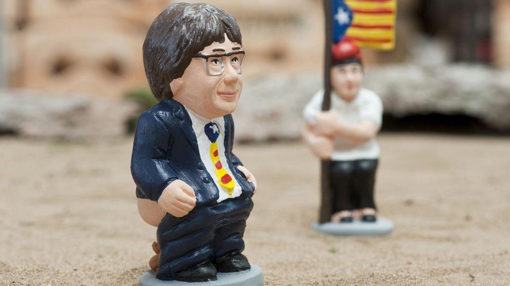 Foto: El expresidente de la Generalitat Carles Puigdemont, es una de las figuras de los 'caganers'. (EFE)