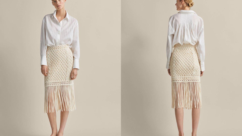 La falda más espectacular del verano es de Massimo Dutti.