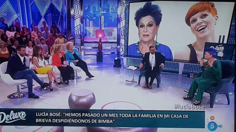 Lucía Bosé, en el plató de 'Sábado Deluxe'.