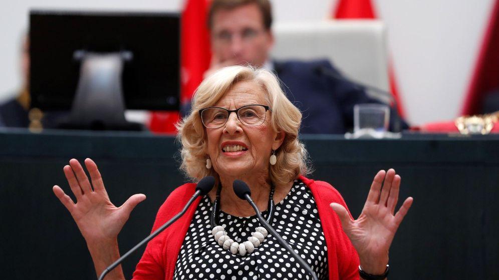 Foto: Manuela Carmena en el pleno de constitución del nuevo Ayuntamiento. (EFE)
