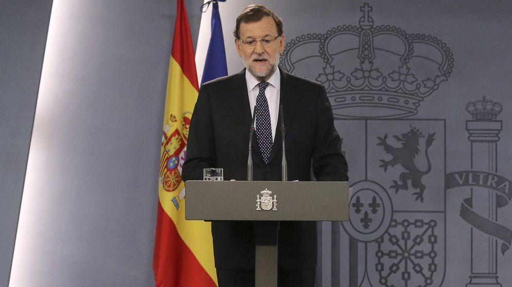 Foto: El presidente del Gobierno, Mariano Rajoy, durante su comparecencia institucional. (EFE)