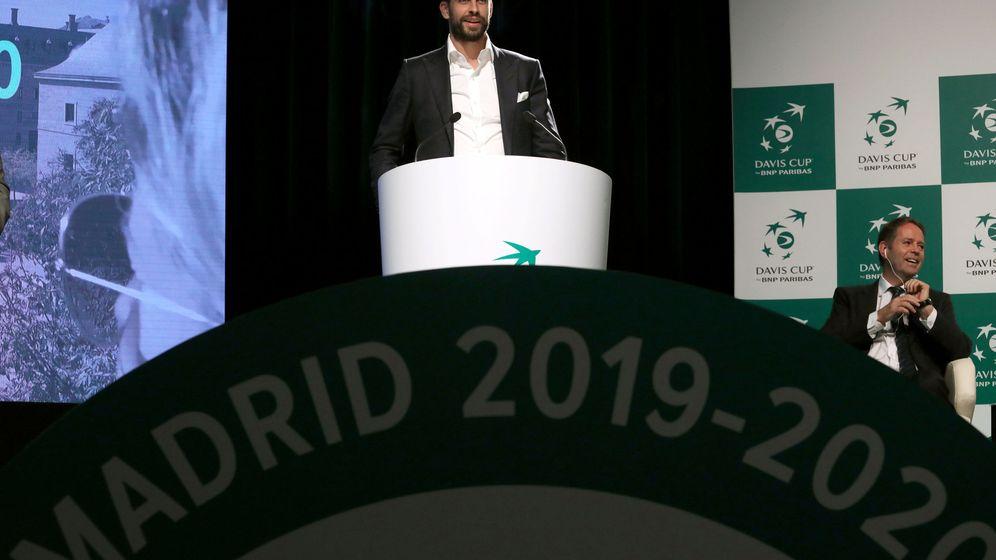 Foto: Gerard Piqué, durante la presentación de la renovada Copa Davis, en Madrid. (Reuters)