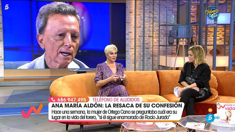Ana María Aldón y Toñi Moreno, en 'Viva la vida'. (Mediaset)