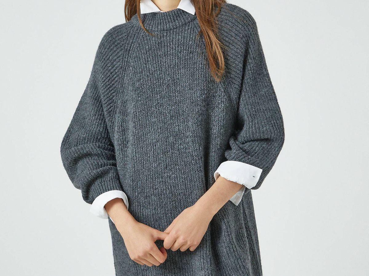 Foto: Jersey vestido de Pull and Bear. (Cortesía)