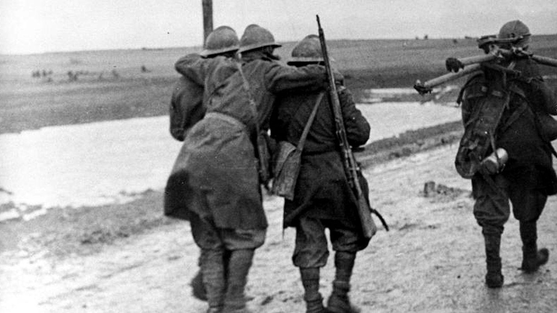 Soldados rebeldes en Guadalajara, 1936. (Bundesarchiv Bild)