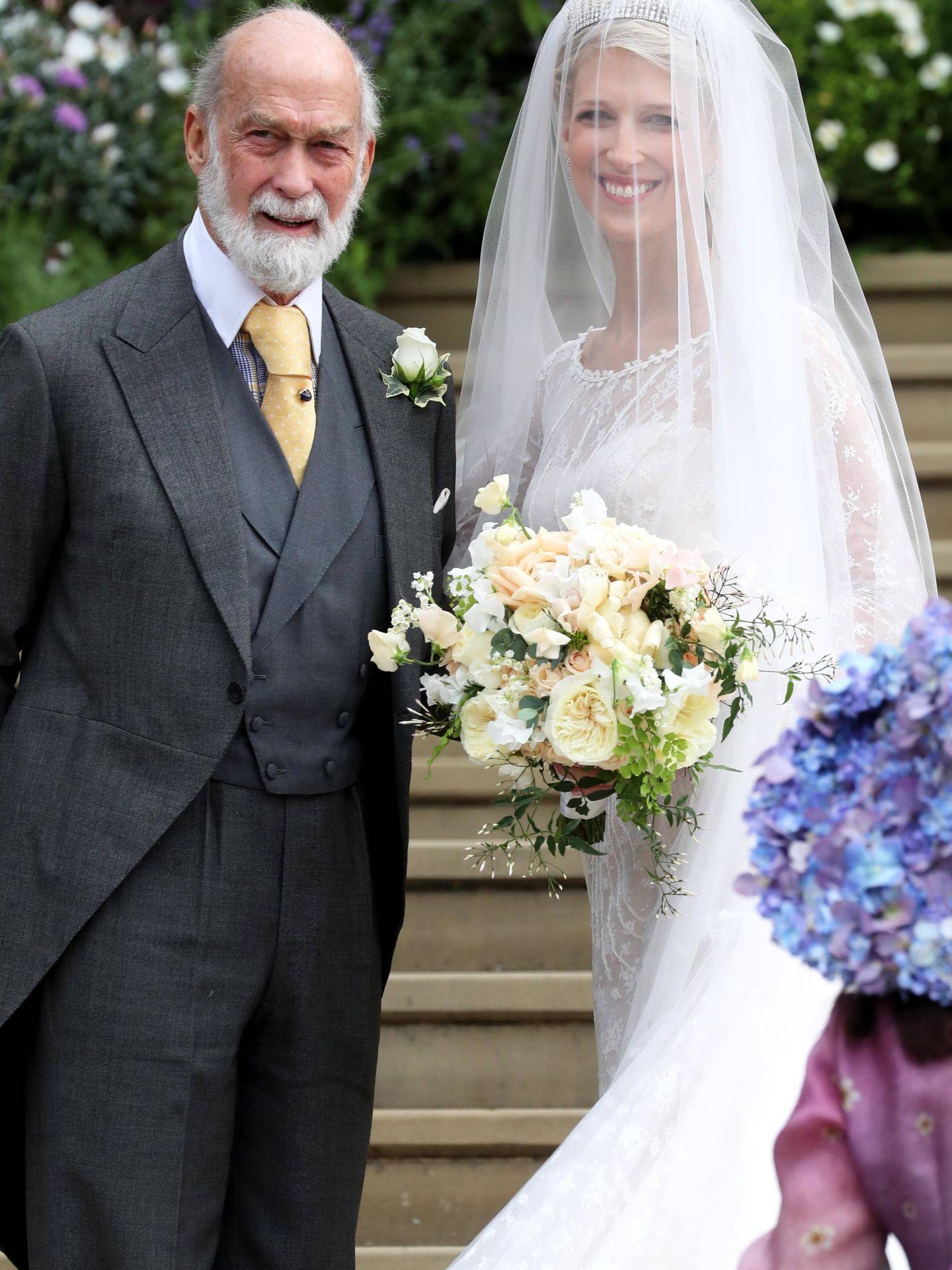 Lady Gabriella con su padre. (Getty)