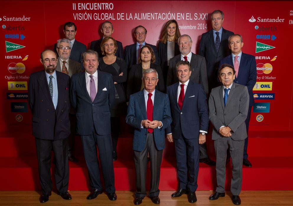 Foto: Los invitados al encuentro, ayer en Madrid.