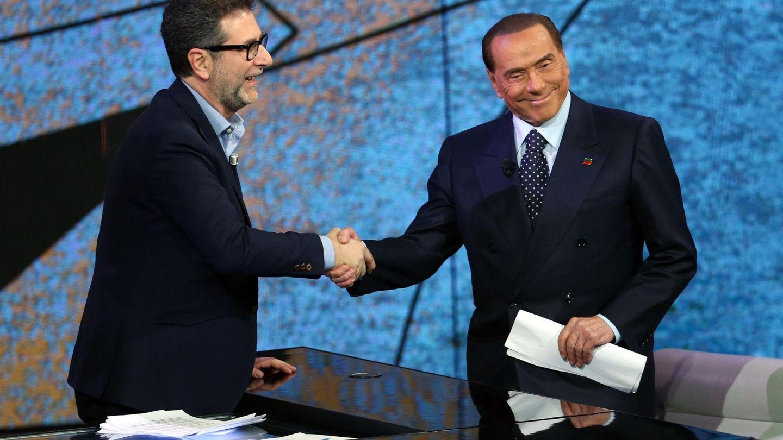 Silvio Berlusconi participa en el programa de televisión 'Che tempo che fa', el pasado 27 de noviembre de 2017. (EFE)