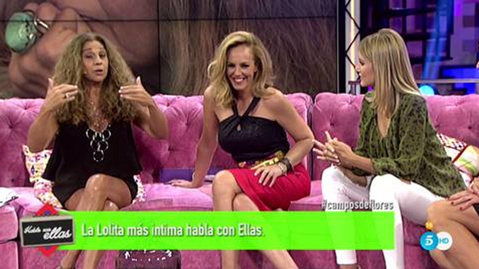 Foto: Lolita, Rocío Carrasco y Alba Carrillo en 'Hable con ellas'.