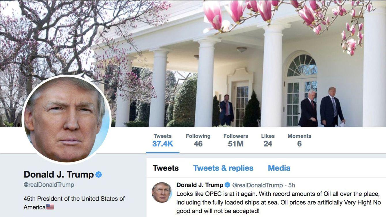 Foto: Cuenta de Twitter de Donald Trump. (Reuters)