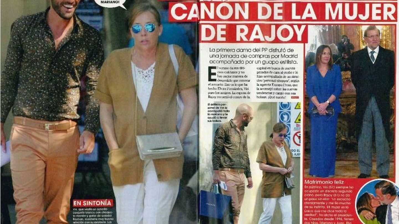 Interior de la revista 'Sálvame' que muestra a Viri junto a su asistente personal