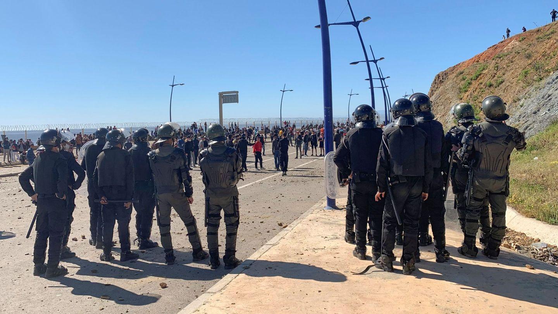 Antidisturbios marroquíes. (EFE)