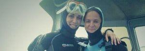 Foto: Raquel Sánchez Silva se recupera practicando buceo en Formentera