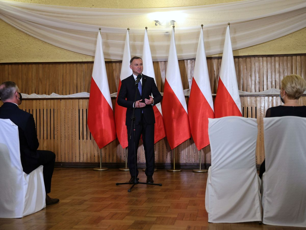 Foto:  Andrzej Duda, presidente de la República de Polonia junto a su mujer. (EFE)