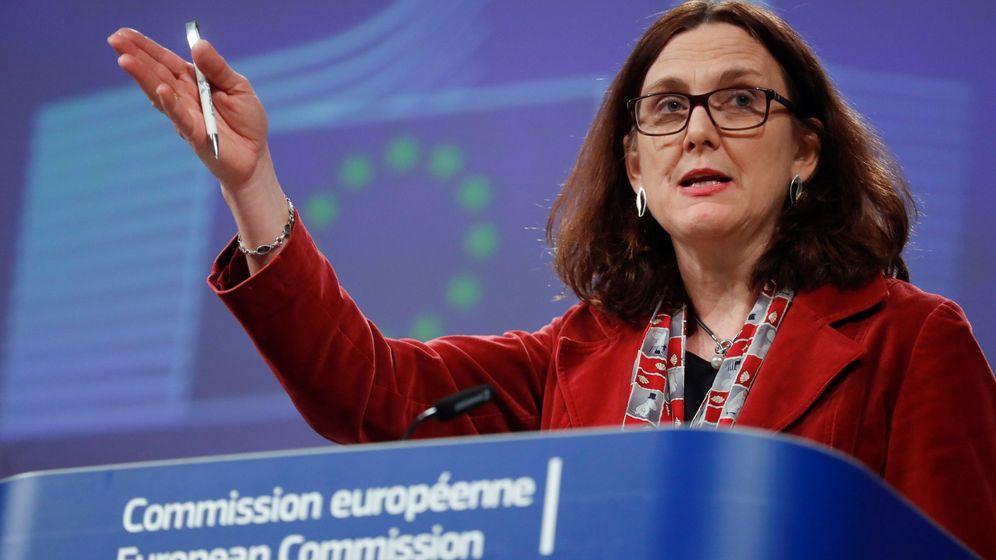 Foto: La comisaria europea de Comercio, Cecilia Malmström, en Bruselas. (EFE)