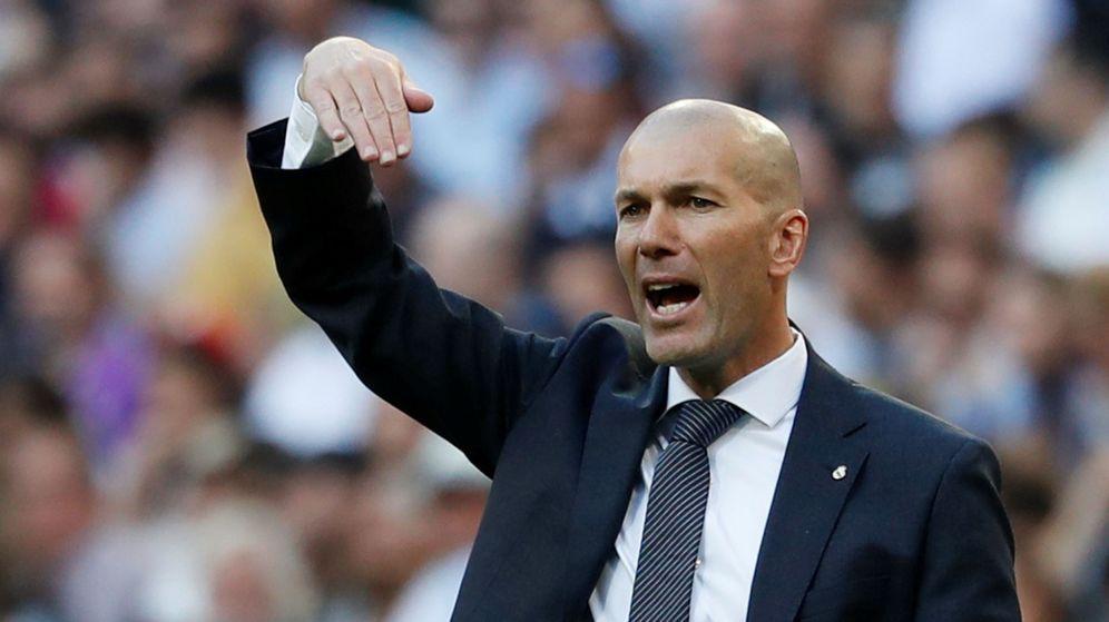 Foto: Zidane, este pasado sábado, en el Santiago Bernabéu. (Reuters)
