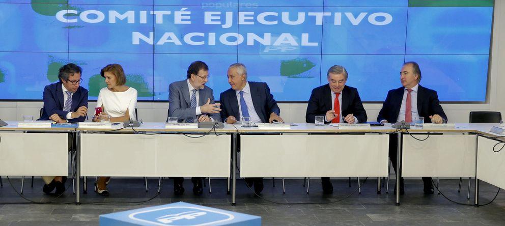 Foto: La cúpula del PP durante el Comité Ejecutivo (Efe)