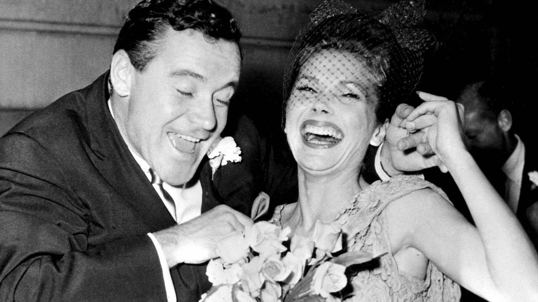 Lemmon con Felicia Fahrr, su segunda esposa. (CP)