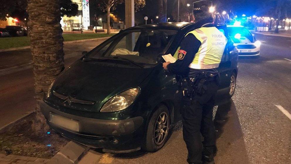 Detenido por circular a 123 kilómetros por hora y drogado en las calles de Valencia