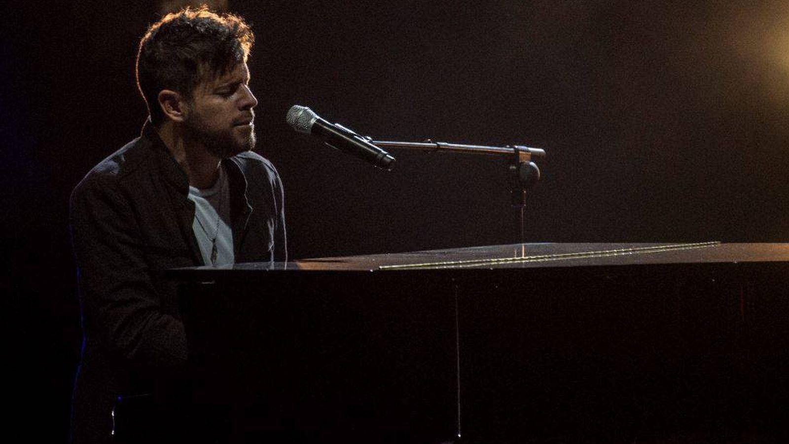 Foto: Pablo López, en un momento del concierto.