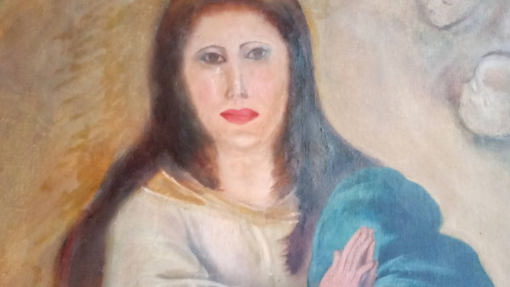 Foto: Imagen actual de la copia de las famosas Inmaculadas de Murillo. (Europa Press)