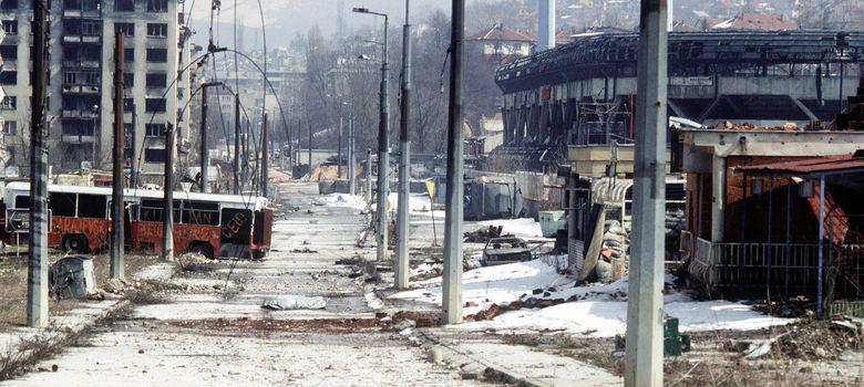 Foto: Imagen del cerco de Sarajevo