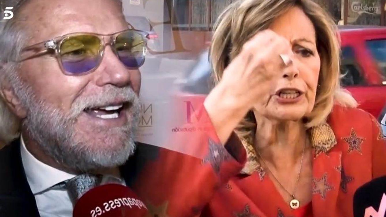 María Teresa Campos le tapa la boca a una reportera al ser preguntada por Edmundo