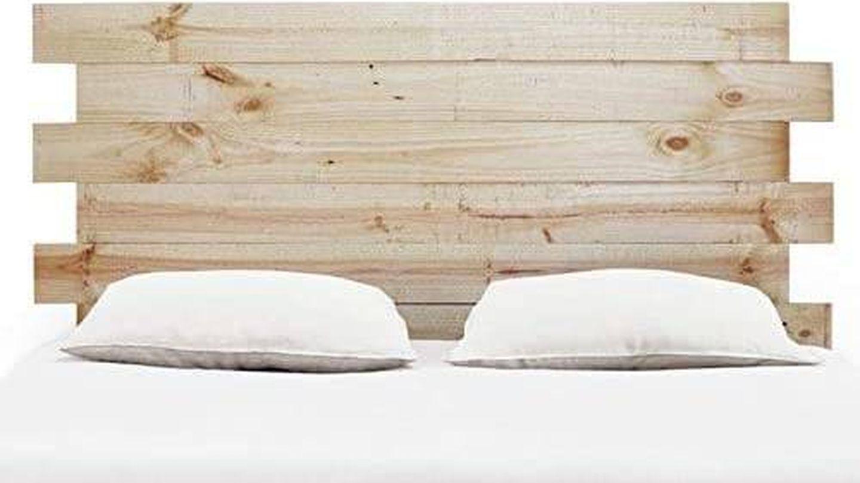 Cabecero con palets de madera de Sermahome. (Cortesía)