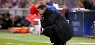 Post de Simeone manda echar el freno y el Atlético hinca la rodilla