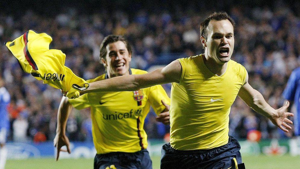 Foto: El 6 de mayo de 2009, Iniesta marcó en Stamford Bridge el gol que le dio al Barcelona el pase a la final de Champions. (EFE)