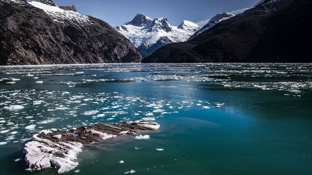 Foto: Glaciar en el fiordo Yendegaia (Chile) derretido. (EFE)