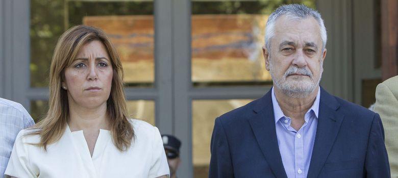 Foto: José Antonio Griñán junto a Susana Díaz. (EFE)