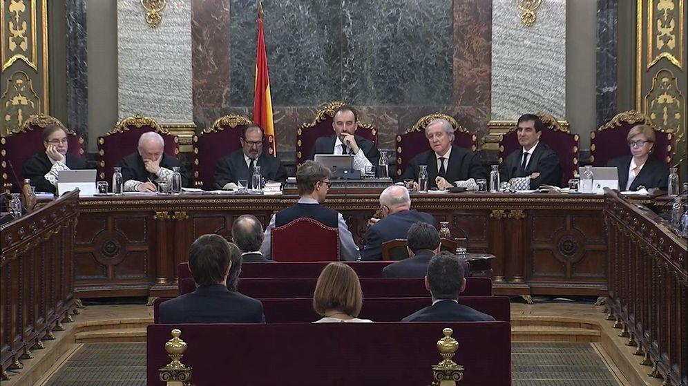 Foto: Imagen de archivo de la sala del Supremo en la que se celebra el juicio del 'procés'. (EFE)