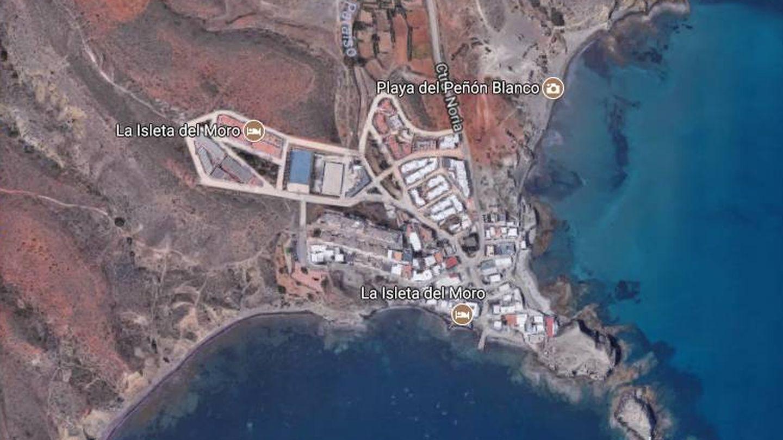 Vista aérea de La Isleta del Moro, donde vive Ramón Colau. (Google)