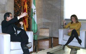 Artur Mas deja sin tiempo a Susana Díaz para adelantar sus elecciones